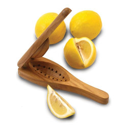 Enrico - Enrico EcoTeak Wood Lemon Squeezer - -Made from environmentally-friendly reclaimed teak with an easy care food-safe lacquer finish