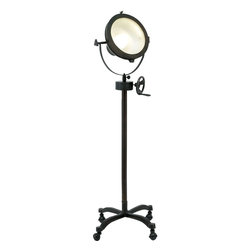 Benzara - Metal Spot Light with Crystal Clear Glass Covering - Perfectly designed to create the absolutely perfect lighting effect that you always wanted, this spotlight is an indispensable part of your shooting set. The spotlight can be conveniently placed on a tripod or any type of support to get the desired angle and focus. The lamp has a powerful bulb, which gives powerful and high intensity light to brighten up any type of location. The top quality bulb is secured by a glass covering that is crystal clear and allows display of light, which is free of blurring or distortion. A suitable metal handle holds the spotlight with which it can be adjusted to achieve the perfect lighting effect. The lamp shade has foldable shutters that can be flexibly manipulated to prevent unwanted light radiation permeating the setting. The superior quality metal that has gone into making of this spotlight ensures a high degree of endurance and makes it last for a long time..