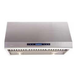 """Cavaliere - Cavaliere AP238-PS83 Under Cabinet Range Hood - 36"""" - Cavaliere Stainless Steel 360W Under Cabinet Range Hoods with 4 Speeds, Timer, LCD Keypad, Stainless Steel Baffle Filters, Heat Lamps & Halogen Lights."""