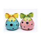 ATD - 2.25 Inch Pink and Blue Polka Dot Dilly Dots Salt and Pepper Shakers - This gorgeous 2.25 Inch Pink and Blue Polka Dot Dilly Dots Salt and Pepper Shakers has the finest details and highest quality you will find anywhere! 2.25 Inch Pink and Blue Polka Dot Dilly Dots Salt and Pepper Shakers is truly remarkable.