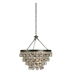 Robert Abbey - Bling Chandelier - Hang your bling from the ceiling with this flashy chandelier. Nothing like a glitzy dangling lighting product to perk up your mood. Suspended by an ornate chain, adorn your dining area, den or disco and then crank up the tunes.