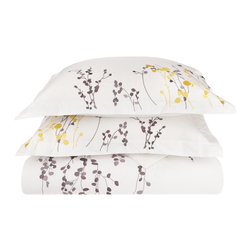 Reed 3-Piece Full/Queen Duvet Cover Set - Give yourself the sleep and the style you deserve with the Reed 3 Piece Duvet Cover Set. Featuring an embroidered floral design this set will be sure to please.