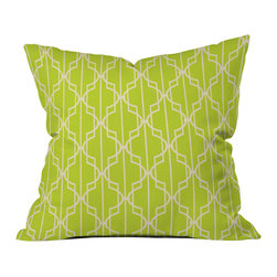 Mary Beth Freet Trellice Outdoor Throw Pillow - Do you hear that noise? It's your outdoor area begging for a facelift and what better way to turn up the chic than with our outdoor throw pillow collection? Made from water and mildew proof woven polyester, our indoor/outdoor throw pillow is the perfect way to add some vibrance and character to your boring outdoor furniture while giving the rain a run for its money.