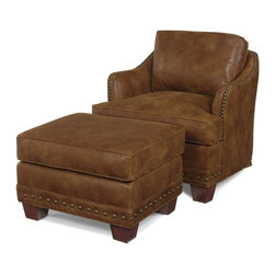 EuroLux Home - New Accent Chair Lounge Wood Leather - Product Details