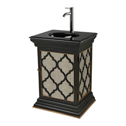 Sterling Industries - Mirrored Vanity Unit With Moorsih Pattern - Mirrored Vanity Unit With Moorsih Pattern