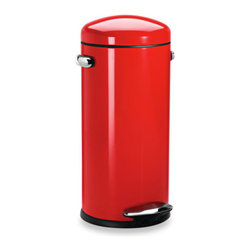 Simplehuman 30-liter Red Retro Trash Step Trash Can - You'll need a trash can with a lid to keep the smells contained.