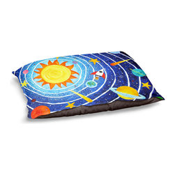 """DiaNoche Designs - Dog Pet Bed Fleece by nJoyArt - Solar System VII - DiaNoche Designs works with artists from around the world to bring unique, designer products to decorate all aspects of your home.  Our artistic Pet Beds will be the talk of every guest to visit your home!  BARK! BARK! BARK!  MEOW...  Meow...  Reallly means, """"Hey everybody!  Look at my cool bed!""""  Our Pet Beds are topped with a snuggly fuzzy coral fleece and a durable underside material.  Machine Wash upon arrival for maximum softness.  MADE IN THE USA."""