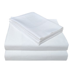 """400 Thread Count Swiss Dot Sheet Set - Queen, White - This 100% Egyptian cotton Bedding Set is soft yet perfect for everyday use. This set features a homely and comforting Swiss dot pattern. Luxurious and comfortable at an affordable price. Set includes one flat sheet 90""""x104"""", one fitted sheet 60""""x80"""", and two pillowcases 21""""x31"""" each."""