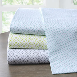 Intelligent Design - Intelligent Design Diamond 200TC Sheet Set - Diamond�۪s smaller scale diamond print motif creates a fun modern look. This 200TC printed cotton sheet set adds comfort and style to your bedroom. Comes in teal, grey, and green. 100% cottton, 200TC, printed