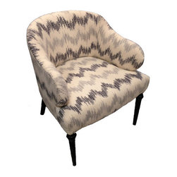 Vanillawood - Chevron Vintage Chair - This vintage piece is reupholstered in Schumacher Sierra Ikat fabric! This is a one of a kind chair, only two available!