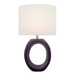 Lite Source - Ceramic Table Lamp - Coffee/Off-White Shade - Ceramic Table Lamp - Coffee/Off-White Shade