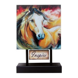 "Westland - ""Inspire"" Buckskin Wild Canvas Pedestal Plaque Figurine - Black - This gorgeous ""Inspire"" Buckskin Wild Canvas Pedestal Plaque Figurine - Black has the finest details and highest quality you will find anywhere! ""Inspire"" Buckskin Wild Canvas Pedestal Plaque Figurine - Black is truly remarkable."