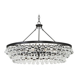ROBERT ABBEY - Robert Abbey Bling Collection Large Deep Bronze Chandelier - Brand  Robert Abbey Lighting