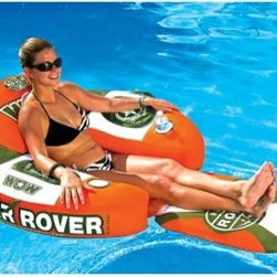 World of Watersports River Rover Lounge - Tubing suddenly becomes an art when you're relaxing in the World of Watersports Hideaway Lounge. With its two-zippered storage coolers and storage locker in the headrest, this river rover is ready to please! It has two molded cup holders and a flip-out footrest that will keep you refreshed and relaxed in any body of water. The water vent will helps to cool you down as you perfect The Art of Lounging in this soothing summer accessory.Founded in 2010 by Leroy Peterson, WOW is now the leader in cutting-edge water sport accessories. Committed to quality construction and innovative ideas, WOW has pioneered a wide variety of ski tubes and accessories designed to put the functionality in your summer water fun. WOW has developed a whole new generation of towables that are exciting, safe, and affordable.