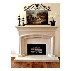 French Country Cast Stone Mantel - French Country Mantel.......From the countryside In southern France. This mantel invites the warmth of your home. Hearth and fillers included. Visit our website for textures and more colors. Affordable at 1099.00