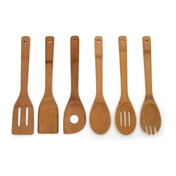 Lipper International Set Of Bamboo Kitchen Tools In Mesh Bag