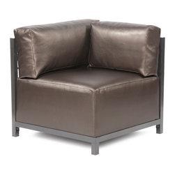 Howard Elliott - Howard Elliott Atlantis Pewter Axis Corner Chair - Titanium Frame - Axis corner chair Atlantis pewter titanium frame