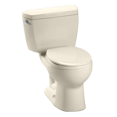 Toto - Toto CST743E Sedona Beige Eco Drake Round Toilet Bowl Only 1.28 GPF - The Drake series gives a simple, sleek style to any bath with its variety of options and finishes.
