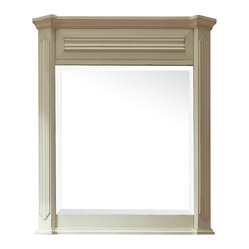 Avanity - Kingswood 30-inch Mirror - Fluted columns and a distressed finish give this mirror its old-world charm. Use it to add a traditional finish to your guest or master bath.
