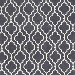 """KAS - KAS Allure 4067 Fiore (Charcoal) 7'7"""" x 10'10"""" Rug - This Hand Tufted rug would make a great addition to any room in the house. The plush feel and durability of this rug will make it a must for your home. Free Shipping - Quick Delivery - Satisfaction Guaranteed"""