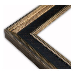 The Frame Guys - Manchester Flat Black Diamond with Champagne Lip Picture Frame-Solid Wood-10x10 - *Manchester Flat Black Diamond with Champagne Lip Picture Frame-Solid Wood-10x10