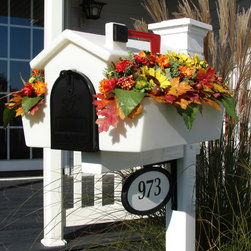 Creative Mailbox Planters - I love this! It fits over your existing mailbox and is a bit of a day brightener for the mail delivery person.
