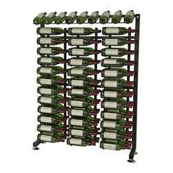 117 Bottle Half Island Display Wine Rack - Store 117 bottles in this product add-on rack from Vintage View. Use as a single wall wine rack unit or fill a whole wall with your favorite wines. Great for retail displays and other commercial applications. Includes all hardware you need like framing and three WS43 wine racks.