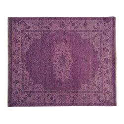 1800-Get-A-Rug - 100% Wool Purple Serapi Heriz Overdyed Oriental Rug Hand Knotted Sh19360 - 100% Wool Purple Serapi Heriz Overdyed Oriental Rug Hand Knotted Sh19360