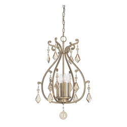 Savoy House - Savoy House Rothchild Foyer Pendant Light Fixture in Oxidized Silver - Shown in picture: Rothchild 4-Light Foyer in Oxidized Silver Finish