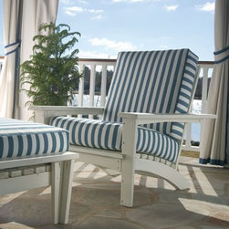 Stone Harbor Chair - The classic design and jaunty stripe of this chair give it the airy feel of the beach. It has that perfect summer feeling.