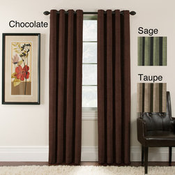 None - Antique Velvet 84 inch Blackout Grommet Panel Pair - Add a refined look to any room with these blackout grommet curtain panels. These full-length velvet curtains,available in several color options,help keep heat in the home while lowering heating costs and providing a cozy,regal look for the room.