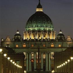 Magic Murals - Vatican Night View of Rome Wallpaper Wall Mural - Self-Adhesive - Multiple Sizes - Vatican Night View of Rome Wall Mural