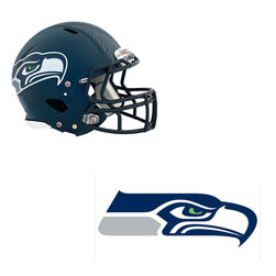 Brewster Home Fashions - NFL Seattle Seahawks Wall Graphics 6pc Teammate Sticker Set - FEATURES: