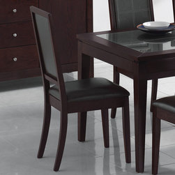 """Acme Furniture - Albury Side Chair in Espresso - Set of 2 - Albury Side Chair in Espresso - Set of 2; Finish: Espresso; Materials: RBW, PU, CA Foam; Chair Back x 2, Chair Frame x 2, Front Leg x 2, Front Leg x 4, Seat x 2 --> Hardware - Jcbc M6 x 90mm x 8, Jcbc M6 x 70mm x 8, Jcbc x 40mm x 2, Flat Washer x 18, Spring Washer x 18, Chipboard M4 x 38mm x 6, Allen Key x 1, 2""""; Weight: 30 lbs; Seat Height: 19.69; Dimensions: 39""""H"""
