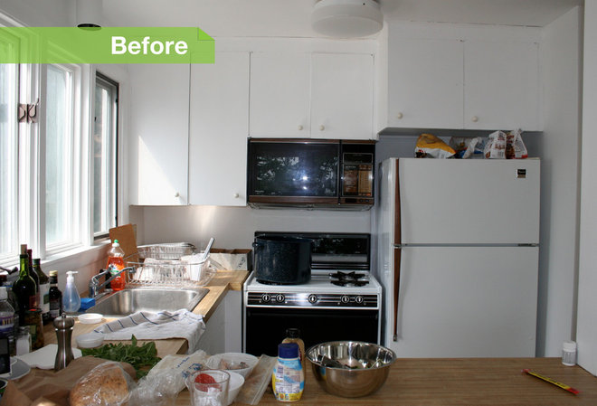 user before/after kitchens