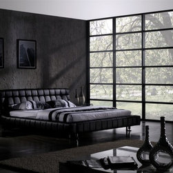 Pakki Leather Bed Frame - Contemporary Bed Frames - Pakki Leather Bed Frame - Contemporary Bed Frames