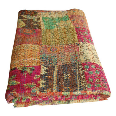 Indian Kantha Quilt - Indian Kantha Quilt - This colour is no longer available. Our website is updated often with new designs please visit the website for other colour options.