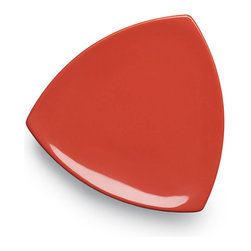 EGS - Spring Coral Triangulation 10 1/4 x 1 H Triangle Plate - Case of 6 - DescriptionsFor those who think outside the box when experimenting with their newest culinary creations the Triangulation collection is the ideal way to showcase a flair for originality