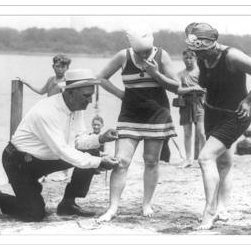 Buyenlarge - Enforcement of the bathing suit law 20x30 poster - Series: Classic Photography