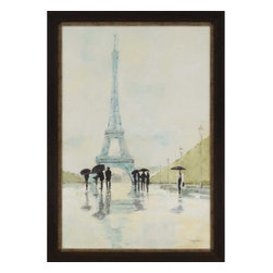 Paragon - April in Paris - Framed Art - Each product is custom made upon order so there might be small variations from the picture displayed. No two pieces are exactly alike.