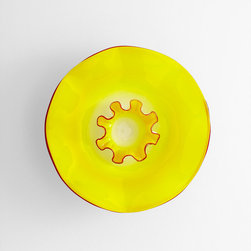 Cyan Design - Sunshine Splash Plate - Sunshine splash plate - yellow and red