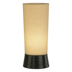"Robert Abbey - Robert Abbey 2070X Rico Espinet Fuzo 21-5/8"" 1 Light Table Lamp in Tudor Bronze - This One Light Table Lamp has a Bronze Finish and is part of the Rico Espinet Fuzo Collection.Bulb Type: Incandescent Collection: Rico Espinet Fuzo Finish: Tudor Bronze Height: 21-5 8 Numner of Lights: 1 Origin: Usa Shade: Oatmeal Linen Style: Contemporary Switch Type: Hi-lo Wattage: 100 Max Weight: 7"