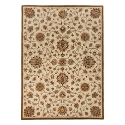 Surya - Surya Kensington KEN-1044 (Ivory) 9' x 12' Rug - Intricate traditional designs are the cornerstone of the Kensington Collection. This collection combines the pattern and feel of traditional rugs, but provides an updated and modern color palette. The color combinations of these rugs were chosen to reflect the trends of the modern furniture market, to create an easy and comfort when adding the rugs to a home. These rugs are hand tufted from 100% wool. The ''Pantone'' colors include: Dark Chocolate (19-1012), Teal Blue (19-4820), Putty (13-0711), Caramel (15-1225), Khaki (15-1217), Maroon (19-1656), Cinnamon Spice (18-1244), Turtle Green (18-0527), Caviar (19-4006), Shadowy Mauve (16-1509)