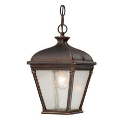 Hampton Bay - Hampton Bay Outdoor Lanterns. Malford Hanging Outdoor Dark Rubbed Bronze Lantern - Shop for Lighting & Fans at The Home Depot. Add beauty and traditional style to your decor with the Hampton Bay Malford Hanging Outdoor Lantern. Presented in a dark rubbed bronze finish, and featuring clear seedy glass panels, this hanging lantern will provide a new focus for your outdoor living space.