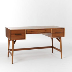 Midcentury Desk, Acorn - This midcentury-inspired desk is a good size and is amazingly versatile. It could move to another room in the house later on, making it a good investment.