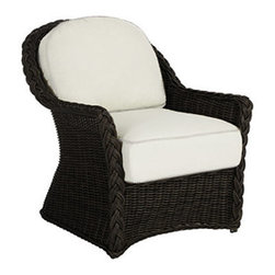 Frontgate - Sedona Outdoor Lounge Chair with Cushions - Ideal for any environment, including oceanfront and saltwater destinations. High-quality resin wicker is specially formulated with high UV resistance to prevent fading. Marine grade aluminum frame is resistant to corrosion. Generously proportioned durable aluminum frame accommodates plush outdoor cushions for supreme comfort. Black Walnut or Weathered finish. The Sedona Lounge Chair by Summer Classics&reg transforms the look of traditional wicker into modern day style and comfort. The expertly hand woven, thick high-quality all-weather resin wicker is specially treated to withstand intense heat and provide resistance to fading. This innovative material combined with an all aluminum frame creates the perfect outdoor furnishing for any open air setting, including beach and salt water environments. The all-weather cushions are offered in a variety of exclusively designed and colored fabrics including Sunbrella&reg solution-dyed acrylics. Part of the Sedona by Summer Classics&reg Collection. . .  . . . Included cushions offered in an assortment of 100% solution-dyed acrylic fabric, including Sunbrella. Note: Due to the custom-made nature of the cushions, any fabric changes or cancellations made to Sedona Collection by Summer Classics&reg must be made within 24 hours of ordering.