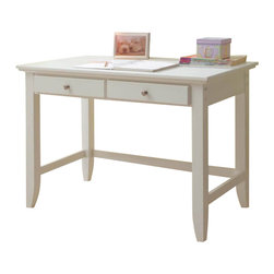 Home Styles - Home Styles Naples Student Desk in White Finish - Home Styles - Writing Desks - 553016 - The Naples Student Desk has solid hardwood and engineered wood construction in a multi-step white finish. It features two storage drawers on easy open glides for smooth operation. The smaller size is perfect when space is limited. Add contemporary charm to your home office or kid's bedroom with the Naples Student Desk.