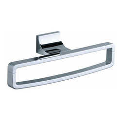 Kohler - Kohler K-11587-CP Polished Chrome Loure Modern Unique Towel Ring from - Loure(tm) towel ring Decorative accessories in the bathroom not only add functionality, but also offer a means to bring design cohesiveness and personal style to the space. Loure(tm) accessories offer a wide range of products with a distinct, contemporary look and feel. With consumers developing an increasing appetite for modern design in their bathrooms, this new collection complements the existing KOHLER accessories selection with a sophisticated, contemporary aesthetic.  Coordinates with contemporary faucet collections  Premium metal construction for durability and reliability  KOHLER finishes resist corrosion and tarnishing  Tools and drilling template included for easy installation