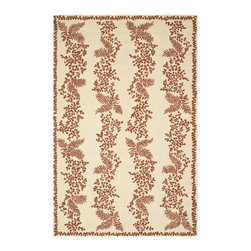 MARTHA STEWART RUGS - New Englander Red and Dahlia Rectangular: 5 Ft. x 8 Ft. Rug - - Generations of New Englanders participated in the classic tradition of hook-rug crafting.  An authentic hook rug brings a sense of charm to any room.  Martha particularly likes the tapestry-like effect of petite-point hooking, because fine details can be rendered-almost like a drawing-using these small hook stitches.  Our petit-point hooked rugs are made by hand, and produced with soft 100-percent wool yarns.  - Please note this item has a 30-day manufacturer's limited warranty that covers product defects. Inspect your purchase upon delivery & notify us immediately with any concerns. MARTHA STEWART RUGS - MSR2321B-6