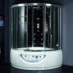 Atlas International - Ariel Platinum DA333F8 Steam Shower with Tub - Ariel Platinum DA333F8 Steam Shower with tub 59x59x89